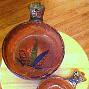 Vintage Mexican Pottery Bowl Pair