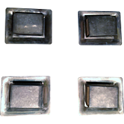 REDUCED S. Kirk & Son Sterling Match Covers With Ashtrays