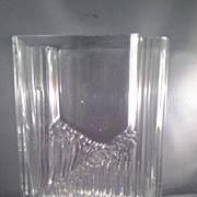 SALE Danish Modern Tapio Wirkkala Large Sointu Crystal Vase