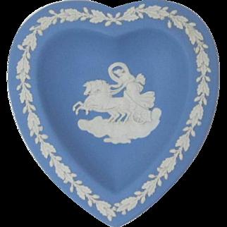 Blue Wedgwood Jasperware Heart-Shaped Party Dish