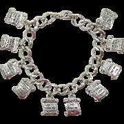 Bright Silver-tone Ten Commandments Bracelet