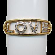 Swarovski Swan Bracelet Spells out LOVE