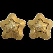 Bright Gold-tone Star Earrings