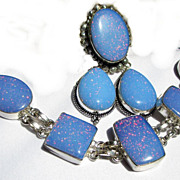 SOLD Sparkling, Glitter, Opalescent, Bracelet, Earrings  & Ring-7
