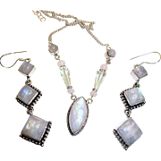SALE PENDING Moonstone Necklace/Earring Set