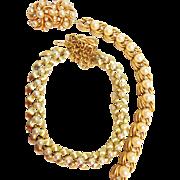 SALE Rare Vintage Crown Trifari Pearl/Rhinestone Bracelet