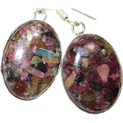 SOLD Mosaic Tourmaline Earrings
