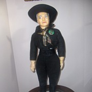 Vintage 23in. Hopalong Cassidy c. 1950s. All Original  Fantastic