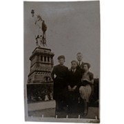 SOLD Vintage 1920's Statue of Liberty & Family Real Photo Postcard