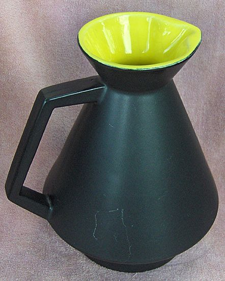 Pfaltzgraff Festival Tableware Large Black and Yellow Pitcher