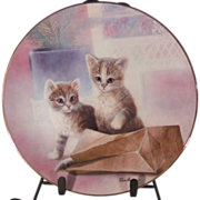 A Bag of Fun Cat Collector Plate by Ruane Manning