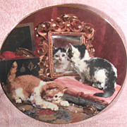 SALE Vanity Fair Cat Collector Plate from the Victorian Cat Capers Collection by Charles Van d