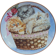 SALE Three Little Kittens Cat Collector Plate by K. Duncan