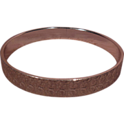 SALE Gold Tone Bangle Bracelet Signed W Germany