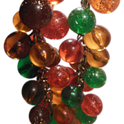 Multicolored Speckled Bead Necklace or Choker