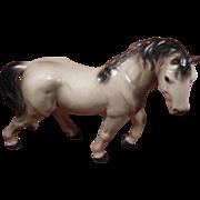 Porcelain Smoky White Horse with Dark Gray Mane Japan