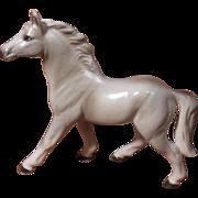 Vintage Gray Porcelain Horse Japan