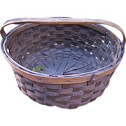 19th Century Woven Splint Basket