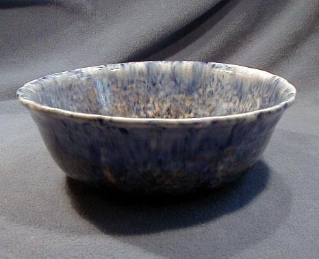 Early Blue Decorated Spongeware Bowl