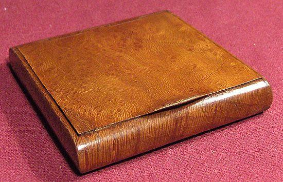 Russian Art Beautiful 19th Century Exotic Wood Cigarette Case