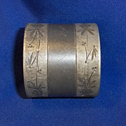 Engraved Silver Plated Victorian Napkin Ring