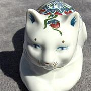 SALE Pretty Cat Trinket or Pin Box by Elizabeth Arden