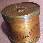 Vintage Hand Decorated Yardley English Wooden Container