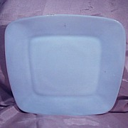 Fire King Azurite Blue Charm Square Luncheon Plate
