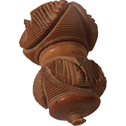 Carved Vegetable Ivory Thimble Holder