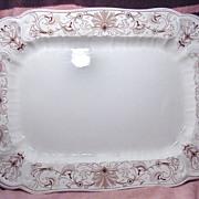 Large Ridgways Brown Transferware Aesthetic Period Platter Beaufort Pattern 1890