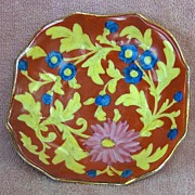 SALE Victoria Pottery Small Hand Painted Floral Dish