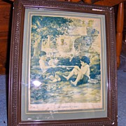 "1924 Framed Cream of Wheat Advertisement ""The Makings of A Man"""