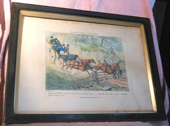 Set of Four 1800's Sports Mishaps Prints by Henry Thomas Alken