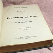 Book – Report of the Department of Mines of Pennsylvania 1914