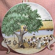 Old Fashioned Picnic Collector Plate by Lowell Herrero
