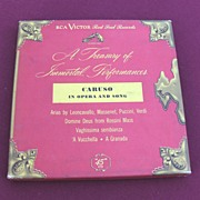 RCA Victor 45 Record Album Set Caruso Treasury of Immortal Performances