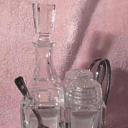 Wurttembergische MetallWarenFabrik Silver Plate and Glass Condiment Set
