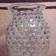 Lovely Hobnail Clear Glass Vase