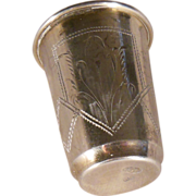 Antique Russian 84 Silver Kiddush Cup 1899 Kiev - Eseevich Zakhoder
