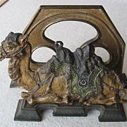 Cast Iron Camel Letter Holder - circa 1900