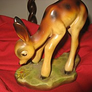 Rare Early Bambi Figurine Made for Disney by Leonardi - 1940's