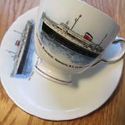 """Bluenose"" Car Ferry - Porcelain Cup and Saucer - Souvenir"