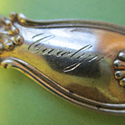 """Carolyn"" Sterling Baby / Christening / Tea Spoon - c.1900"