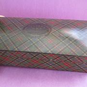 "Large Tartanware Box - ""Clark's Cotton O.N.T."" - MacBeth"