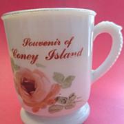 Coney Island Custard Glass Mug / Cup Souvenir