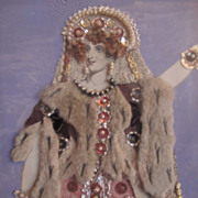 Theatrical Tinsel Print - 19th Century English - Mrs Pope as Elwina of Raby