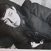 """Photograph - Barbara Morgan's """"Bernice Abbott with Cat"""""""