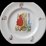 Child's Red Riding Hood Plate - Johnson Bros. England