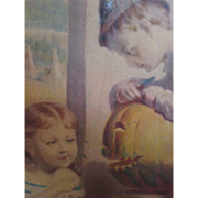 Early Halloween Chromolithograph Print  by B.F. Rienhart - dated 1872