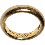 14K Wedding Ring Engraved 1913 Size 6